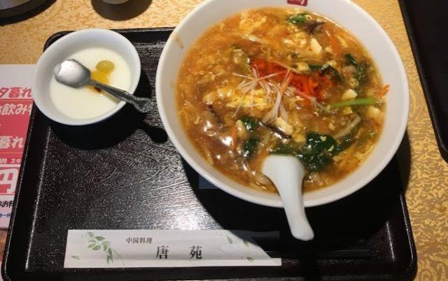 唐苑のサンラー麺
